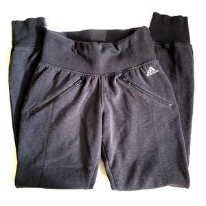 Adidas Dark gray sweatpants with side zippers